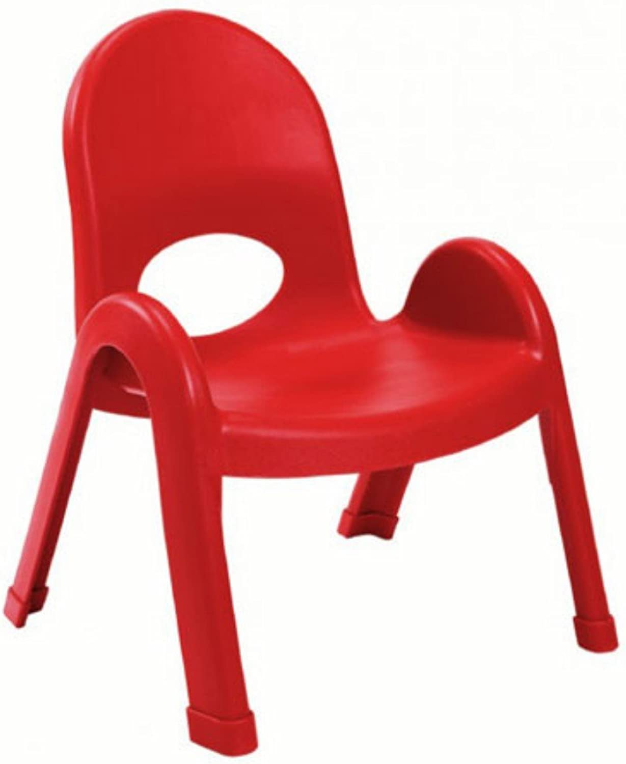 Angeles Value Kids Home Preshool Daycare Classroom Stack Chair 9  Candy Apple Red