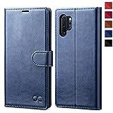 OCASE Samsung Galaxy Note 10+ Plus 5G Hülle Handyhülle [Premium PU Leder][Kartenfach][Magnetverschluss] Tasche Handytasche Etui Schutzhülle für Samsung Note10+ Plus Cover mit kartenfach Blau