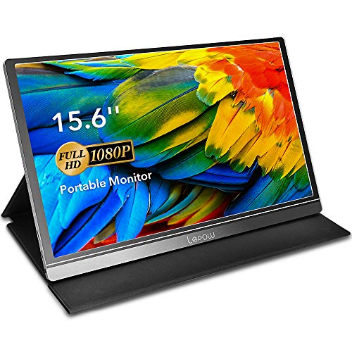 Portable Monitor - Lepow 15.6 Inch Computer Display 1920×1080 Full HD IPS Screen USB C Gaming...