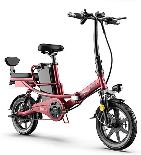 Bici electrica, Bicicletas for adultos plegable eléctricos Comfort bicicletas híbridas bicicletas reclinadas / carretera, con luz delantera LED fácil de guardar en Caravana Autocaravana silencioso mot