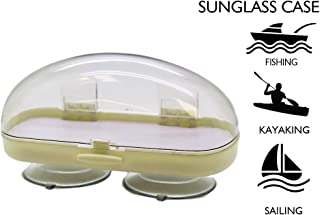Plastic Sunglasses Case with Suction Cups: Safe Eyewear Case for Men & Women| Easy to Mount Suction Sunglasses Case| Top Boating Accessory