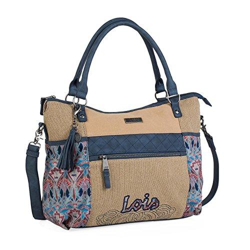 Lois - Bolso Grande Tipo Shopping de Mujer. 2 Asas Largas y...