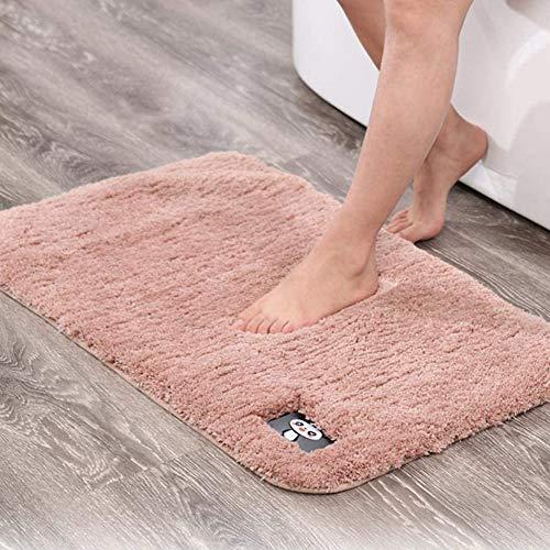 Non-Slip Badmatten Tapijt, Pure Kleur Pluizig Vloermat Mat Woonkamer Slaapkamer Bed Tapijt Badkamer Absorberend Antislipmatten,Pink,S