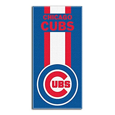The Northwest Company MLB Chicago Cubs Zone Read Beach Towel, 30  x 60