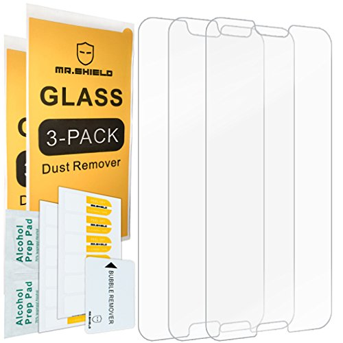 [3-Pack]- Mr.Shield for HuaweiHonor10 [Tempered Glass] Screen Protector [Japan Glass with 9H Hardness] with Lifetime Replacement