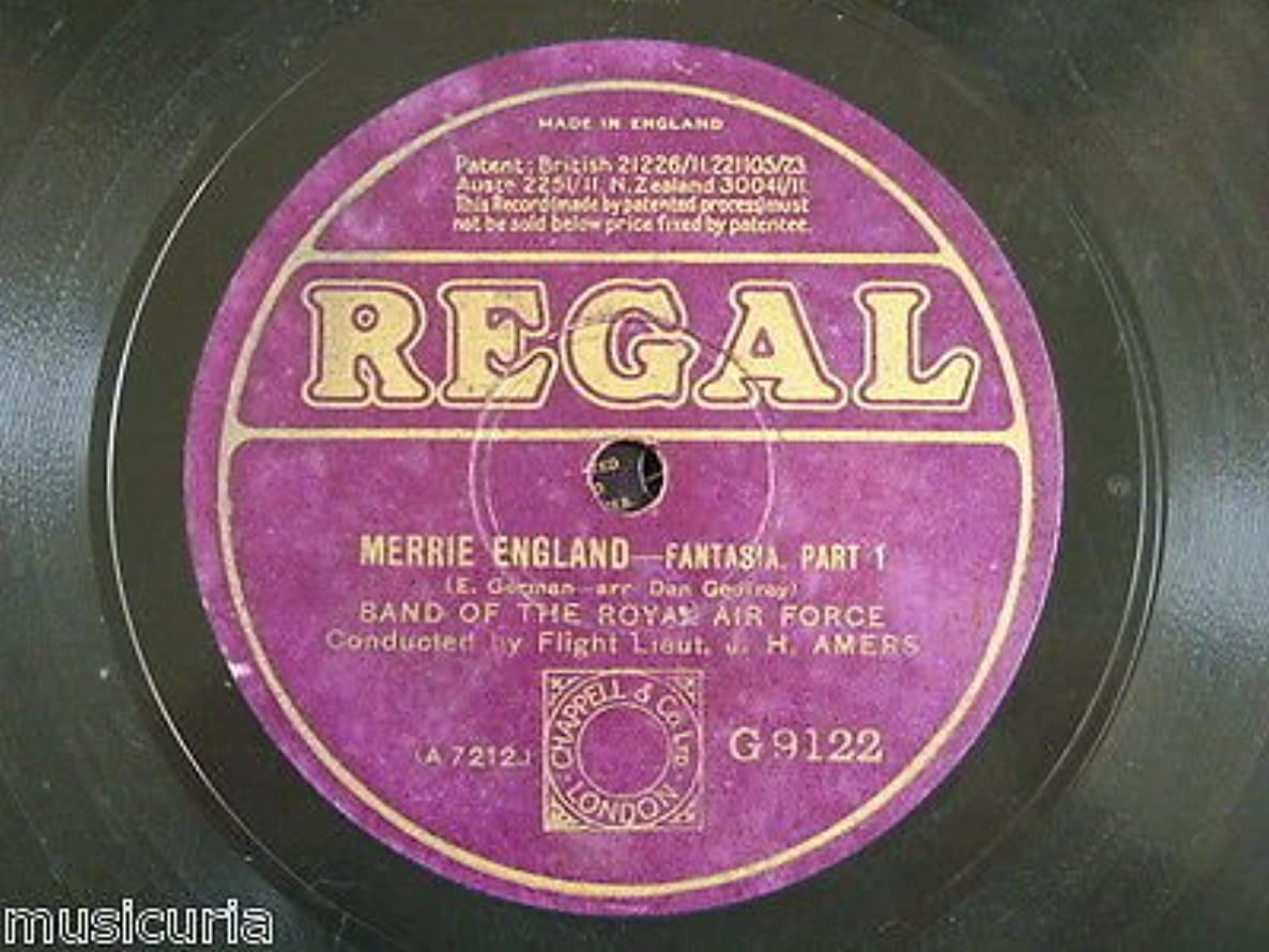 78 BAND OF THE ROYAL AIR FORCE merrie england fantasia [ edward german ] AMERS