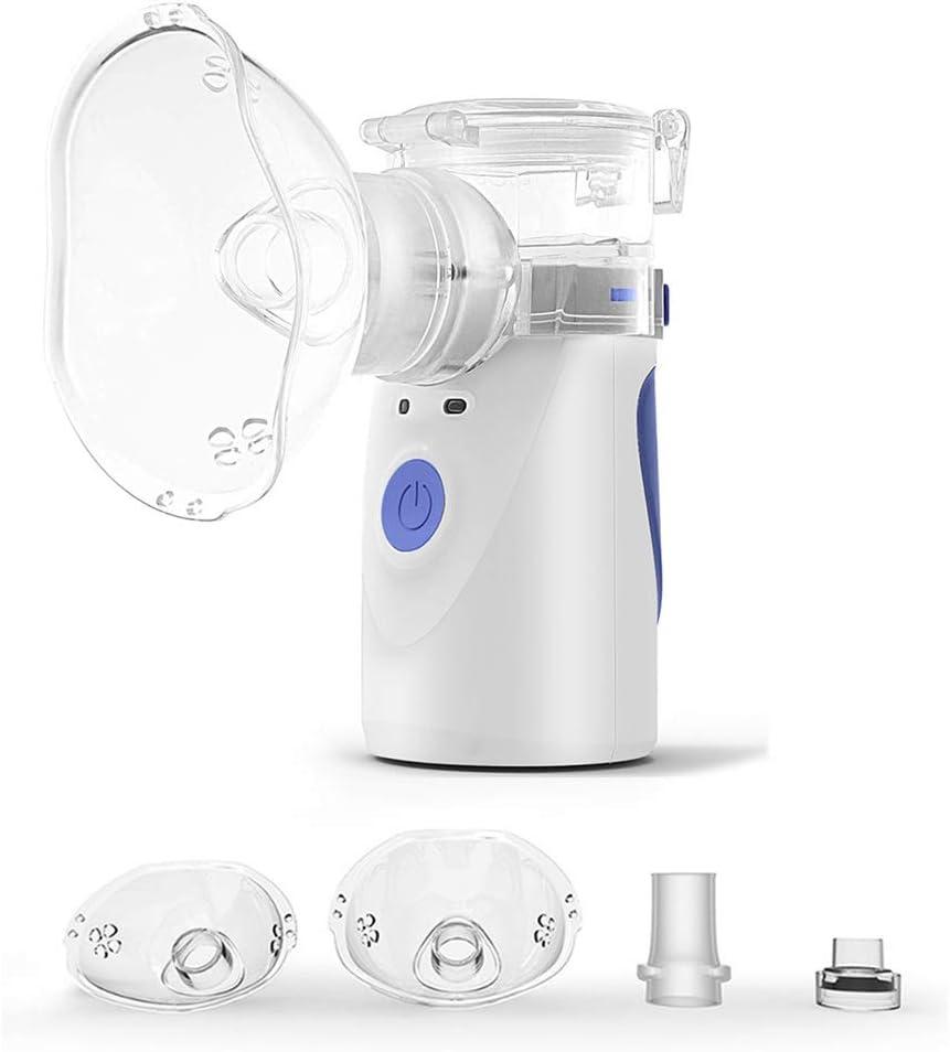 Dr.Taylor Inhaladores Portátil Automática, Cámara en Mano por Ultrasonidos Silencioso Malla Nebulizador, Inhalador de Vapor Médico para Adultos y Niños,Azul