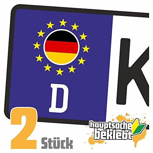 Deutschland Kennzeichen Aufkleber Sticker Nummernschild Land Country Nation