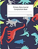 Jurassic Period Primary Story Journal: Dotted Midline with Sketch Space | Perfect for K-2 | Composition Exercise Journal | 100 Pages ( Dinosaur Notebook for Boys)
