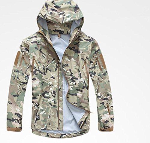 Noga Commander Veste d'officier en softshell imperméable coupe-vent pour sports militaires Camouflage XL