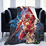 Lsoua Lightweight Blanket with The Flash Pattern Throw for The Bed Quilt Ultra-Soft Micro Fleece Blankets for Kids Adults Durable Comfortable King Size Super Soft Warm Blanket