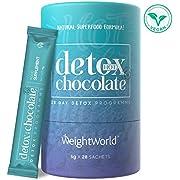 DETOX DRENANTE FORTE DIMAGRANTE In Cacao In Polvere - Depurativo - Disintossicante - Liquido- 28 Bustine - Solo 25 Calorie - Detox Naturale Con Garcinia Cambogia L-carnitina Ginseng - WeightWorld