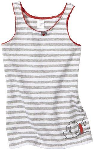 Schiesser Mädchen Unterhemd 139810, Grau (202-grau-mel.), 128 (Herstellergröße: 128)