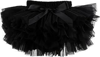 Slowera Baby Girls Soft Tutu Skirt (Skorts) 0 to 36 Months (L: 12-24 Months, Black)