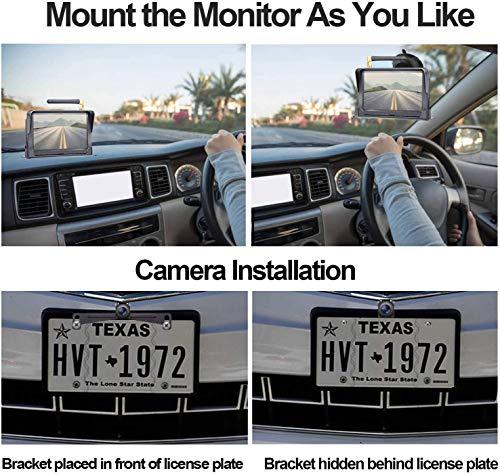 DoHonest HD 1080P Digital Wireless Backup Camera Kit, Stable Signal 5'' Monitor & Rear View Camera for Trucks,Vans,Campers, Cars, SUVs,RVs Super Night Vision IP69K Waterproof Guide Lines DIY - S23