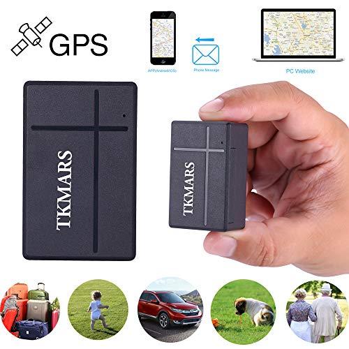 TKMARS Mini GPS-tracker, GPS-tracker, real-time tracker, GPS-tracker, anti-stop-tracker, gratis app voor portemonnee voor belangrijke documenten, ECC TK903A