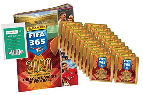 FIFA 365 Edition 2020 - Sticker - 1 Album + 20 Booster ( 100 Sammelsticker ) + stickermarkt24de Sleeves
