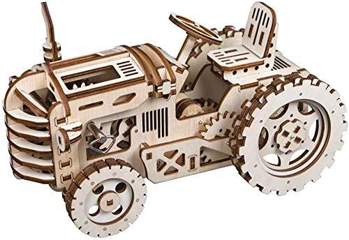 Regalo Modelo de avión mecánico Kit-3D Rompecabezas de Madera Corte con láser, Auto-ensamblaje sin Equipo de construcción de Pegamento Mobile Mobile Kit (Color : Tractor)
