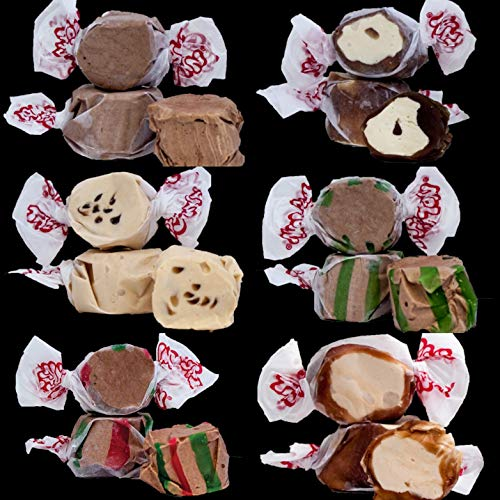 Assorted Chocolate Salt Water Taffy 1kg Bag Guaranteed 6 X Different Chocolate Flavours