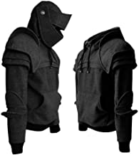 Men Arthur Medieval Knight Armor Hoodie Sweatshirt Pullover