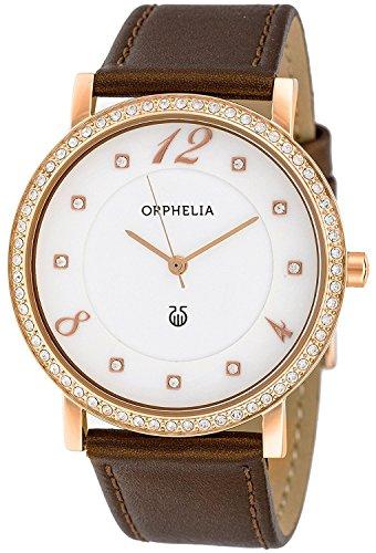 Orphelia Damen-Armbanduhr Lady Provence Analog Quarz Leder