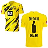 PUMA Borussia Dortmund BVB Heimtrikot 2020 2021 Home Trikot Sponsor BL Logo Kinder Thomas Delaney 6 Gr 140