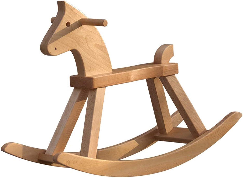 ZJING Adult Trojan Solid Wood Decoration Birthday Gift Adult Rocking Chair Toy Wood Adult Creative Handmade Big Trojan