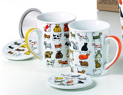 Cha Cult Bodo y Dodo - 2 tazas de té de hierbas - té - vasos - taz