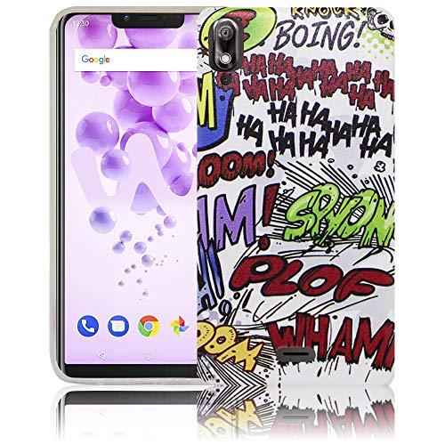 thematys® Compatible para Wiko View 2 GO Tira cómica Hahaha Funda de Silicona para móvil - Polvo, Choque y ligereza - Funda para Smartphone