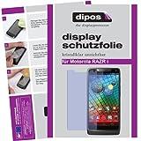 dipos I 2X Schutzfolie klar kompatibel mit Motorola RAZR I Folie Bildschirmschutzfolie