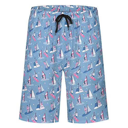 Bannihorse heren zwembroek vrije tijd short zomer casual mode sneldrogend zwemshort zwempak zwembroek shorts met verstelbare trekkoord zakken zonder mesh voering