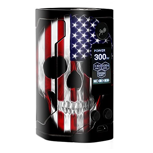 Skin Decal Vinyl Wrap for Wismec Reuleaux RX Gen 3 300W Vape stickers skins cover/ American Skull Flag in Skull