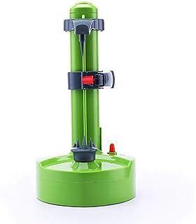 DarweirlueD Pelador eléctrico de acero inoxidable con rotación automática para pelar patatas, fruta y verduras