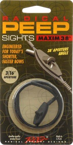 Radical Archery Designs RAD Maxim 38 Self Align Peep 3/16, Black