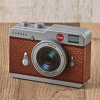 お洒落でレトロなカメラ缶 チョコレート ブラウン 【バレンタイン限定・数量限定】ショッパーズバック付き