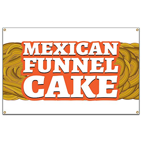 "Mexican Funnel Cake 60"" Banner Concession Stand Food Truck Single Sided"