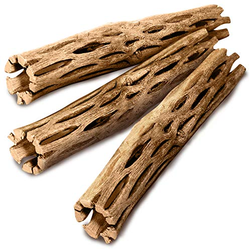 SunGrow Cholla Wood, 5 Inches Long, Aquarium Decoration and Chew Toys for Small Pets, Artistic Home-Decor, Long Lasting Driftwood, 3 Pieces