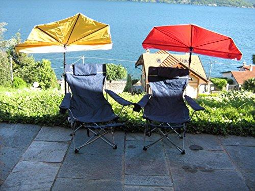 El regalo–Novedad–El Sol silla plegable Stabielo–Kit de viaje–Pantalla–Stabielo Holly Sunny® playa–Camping de...
