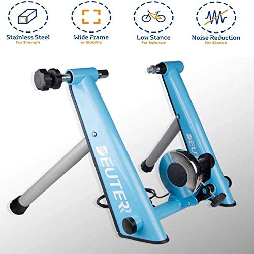 Bicycle SKTY Magnetic Cycling Stand, Riding Stand Supports Bicycle Trainer Stable Bike Stationary for Road and Mountain Bicycles with Quick Release Wheel Block 0702 (Color : Blue) Various bicycles