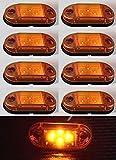 8x 24V ámbar naranja Side Outline marcador 4LED luces lámparas para camión REMOLQUE caravana camión hombre