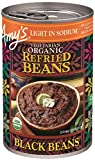 Amy's Organic Refried Beans, Light in Sodium Black Beans, 15.4 Ounce