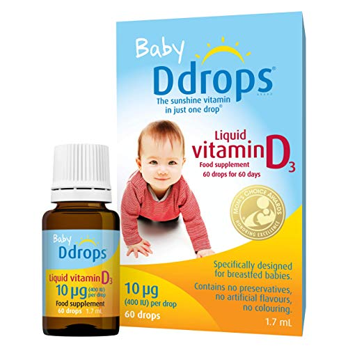 Baby Ddrops Liquid Vitamin D3 Drops Designed For Breastfed Infants 10µg 60 Drops