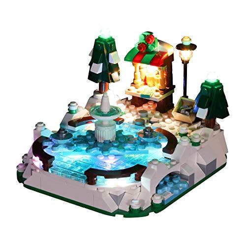 VenGo Juego de iluminación LED, decoración para pista de hielo, compatible con Lego 40416 (solo incluye LED, no incluye el kit Lego).