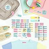 Pack etiquetas personalizadas para marcar ropa y objetos HELLO KITTY (114 uds)