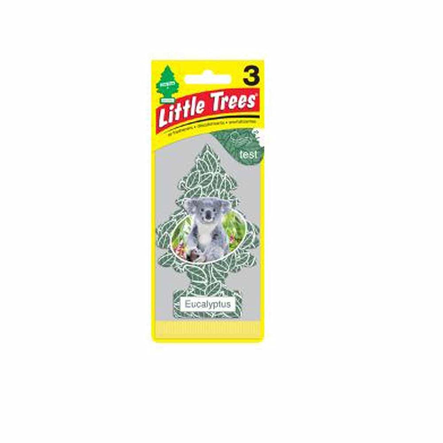 救いサポート雪だるまを作るLittle Trees 吊下げタイプ エアーフレッシュナー eucalyptus(ユーカリ) 3枚セット(3P) U3S-37365
