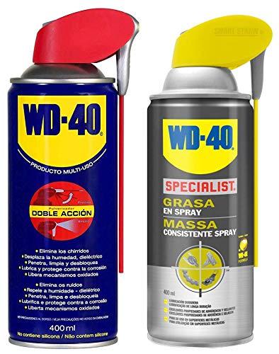 WD40 Specialist Grasa en Spray (Pack Grasa en Spray + WD40 400ML Doble Acción)