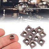 erfula 10Pz Forma Diamante CNC con CNC Box Lame CCMT060204 Tornio in Metallo Duro per torn...