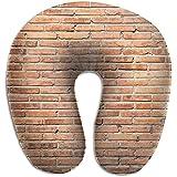 Schiuma di memoria della cassa del cuscino del collo a forma di U del muro di mattoni marrone, dolore del cuscino del resto di viaggio della novità, traspirante morbido confortevole regolabile