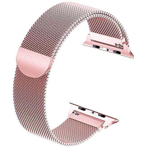 Cinturino di ricambio compatibile con cinturino Apple Watch 44 mm 42 mm 40 mm Cinturino in acciaio inossidabile 38 mm, cinturino intercambiabile a sgancio rapido compatibile ,Rose gold,38/40 mm