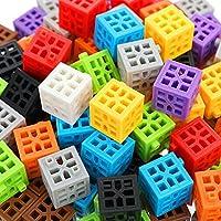 kowaku 正方形のビルディングブロックおもちゃパズルスレッディング幼児教育玩具